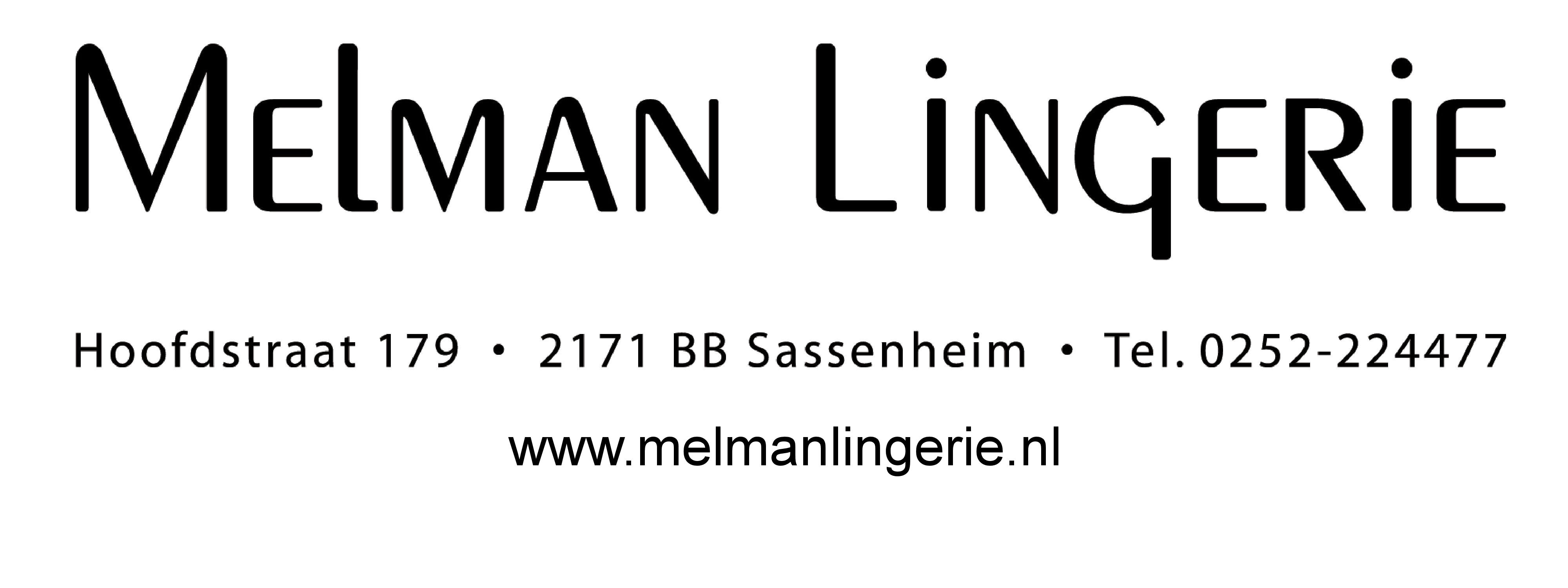 Melman Lingerie Logo met websitevermelding